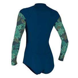 ONeill Front-Zip Longsleeve Surf Suit Damen Shorty mit langen Armen navy im ARTS-Outdoors ONeill-Online-Shop günstig bestellen