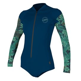 ONeill Front-Zip Longsleeve Surf Suit Damen Shorty mit langen Armen navy