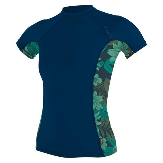 ONeill Side Print Shortsleeve Rashguard Damen navy hier im ONeill-Shop günstig online bestellen