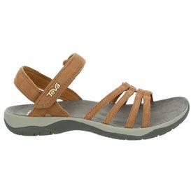 Teva Elzada Sandal Damen Leder Sandale für Trekking und Outdoor pecan