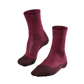 FALKE TK2 Wool Damen Trekkingsocken Wandersocken burgundy