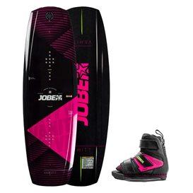 Jobe Vanity Wakeboard Damen 136 & Host pink Set