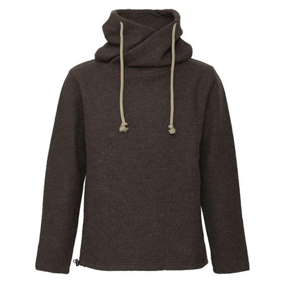 Mufflon Lucca Herren Merino Pullover Hoodie brown hier im Mufflon-Shop günstig online bestellen
