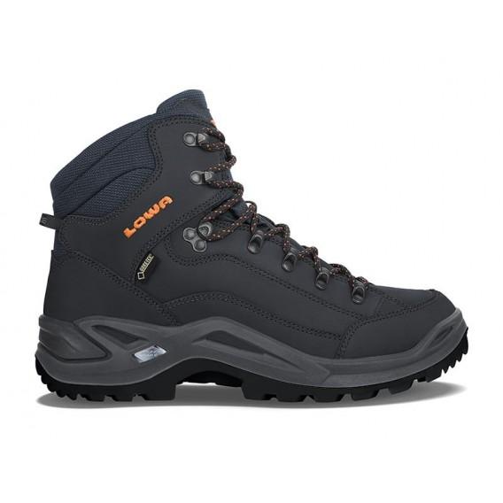 Lowa Renegade GTX Mid Herren Trekking Wanderschuh navy-orange hier im Lowa-Shop günstig online bestellen