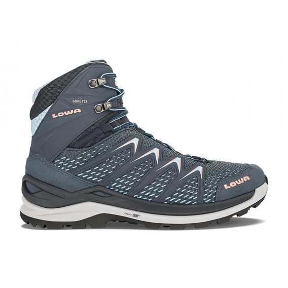 Lowa Innox Pro GTX Mid Damen Trekking und Wanderschuh stahlblau-lachs hier im Lowa-Shop günstig online bestellen