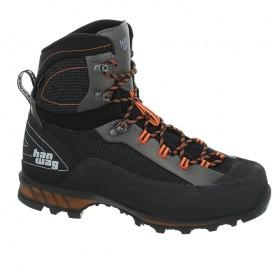Hanwag Ferrata II GTX Herren Trekkingschuh und Klettersteig Stiefel black-orange
