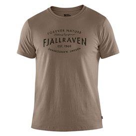 Fjällräven Fjällräven Est. 1960 T-Shirt Herren Freizeit Shirt driftwood im ARTS-Outdoors Fjällräven-Online-Shop günstig bestelle