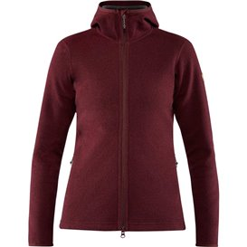 Fjällräven High Coast Wool Hoodie Damen Fleecejacke dark garnet
