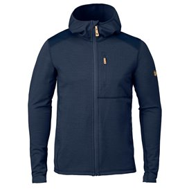 Fjällräven Keb Fleece Hoodie Herren Fleecejacke storm-night sky