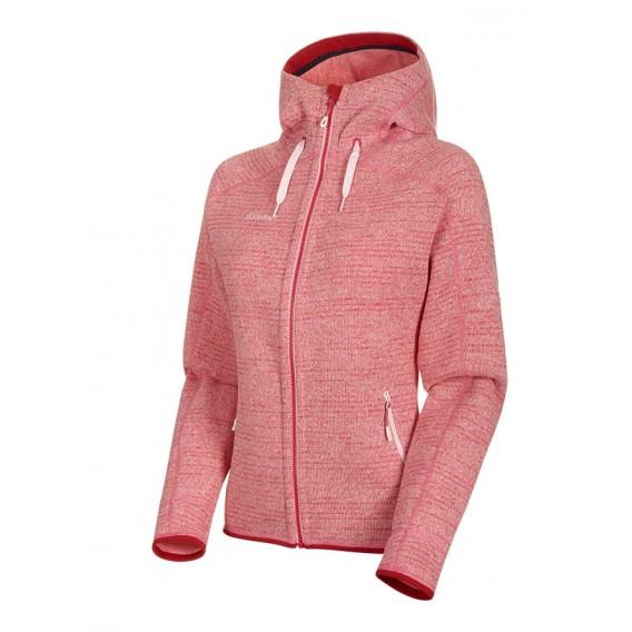 Mammut Arctic ML Hooded Jacket Damen Fleecejacke blush-dragon fruit melange hier im Mammut-Shop günstig online bestellen
