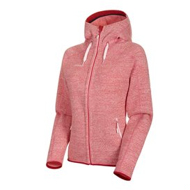 Mammut Arctic ML Hooded Jacket Damen Fleecejacke blush-dragon fruit melange hier im Mammut-Shop günstig online bestellen