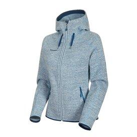 Mammut Arctic ML Hooded Jacket Damen Fleecejacke bright white-sapphire melange im ARTS-Outdoors Mammut-Online-Shop günstig beste