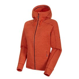 Mammut Arctic ML Hooded Jacket Damen Fleecejacke pepper-dark pepper melange