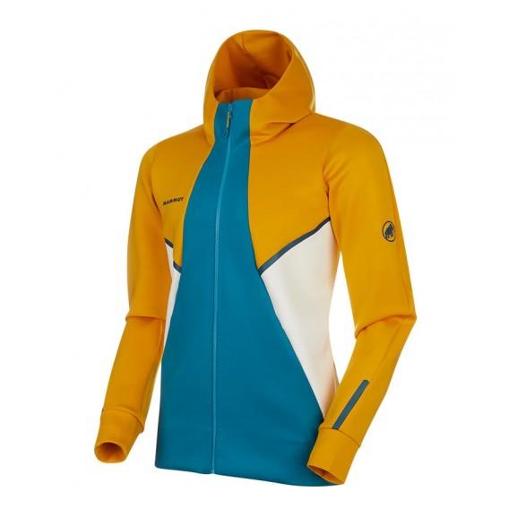 Mammut Avers ML Hooded Jacket Herren Fleecejacke golden-sapphire hier im Mammut-Shop günstig online bestellen