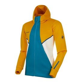 Mammut Avers ML Hooded Jacket Herren Fleecejacke golden-sapphire hier im Mammut-Shop günstig online bestellen