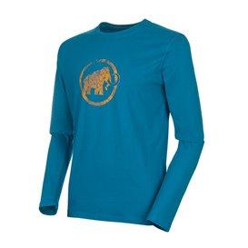 Mammut Logo Longsleeve Herren Sweatshirt Langarmshirt sapphire im ARTS-Outdoors Mammut-Online-Shop günstig bestellen