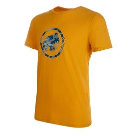Mammut Logo T-Shirt Herren Outdoor und Freizeit Kurzarmshirt golden PRT1