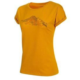 Mammut Mountain T-Shirt Damen Freizeit- und Outdoor Kurzarmshirt golden