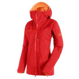 Mammut Nordwand Pro HS Hooded Jacket Damen Hardshelljacke sunset hier im Mammut-Shop günstig online bestellen