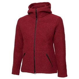 Mufflon Jula Damen Wolljacke ruby