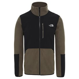 The North Face Glacier Pro Full-Zip Herren Fleecejacke taupe green-black