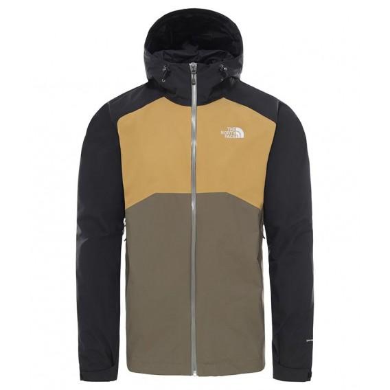 Herren Regenjacke Black Stratos Jacket Khaki The North Face Hardshelljacke lJucT3FK1