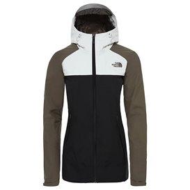 The North Face Stratos Jacket Damen Hardshelljacke Regenjacke black-taupe-grey