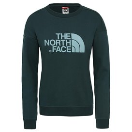 The North Face Drew Peak Crew Damen Pullover Sweater ponderosa green