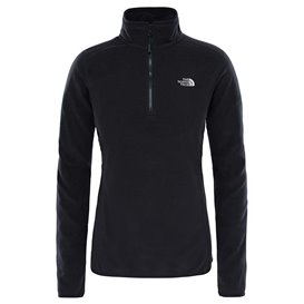 The North Face 100 Galcier 1/4 Zip Damen Fleecepullover black