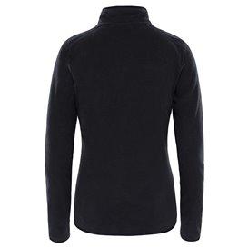 The North Face 100 Galcier 1/4 Zip Damen Fleecepullover black