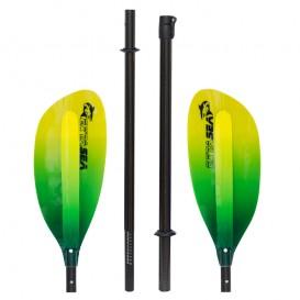 ExtaSea Pro-XL Carbon Vario Doppelpaddel   220-240cm   4-teilig   lime-yellow im ARTS-Outdoors ExtaSea-Online-Shop günstig beste