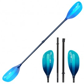 ExtaSea Pro-XL Carbon Vario Doppelpaddel | 220-240cm | 4-teilig | blue-light blue