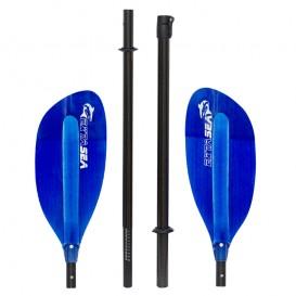 ExtaSea Pro-XL Carbon Vario Doppelpaddel | 220-240cm | 4-teilig | dark blue im ARTS-Outdoors ExtaSea-Online-Shop günstig bestell