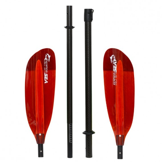 ExtaSea Pro Tour Carbon Vario Doppelpaddel | 220-240cm | 4-teilig | red hier im ExtaSea-Shop günstig online bestellen