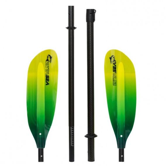 ExtaSea Pro Tour Carbon Vario Doppelpaddel   220-240cm   4-teilig   lime-yellow hier im ExtaSea-Shop günstig online bestellen