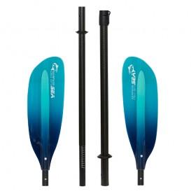 ExtaSea Pro Tour Carbon Vario Doppelpaddel | 220-240cm | 4-teilig | blue-light blue im ARTS-Outdoors ExtaSea-Online-Shop günstig