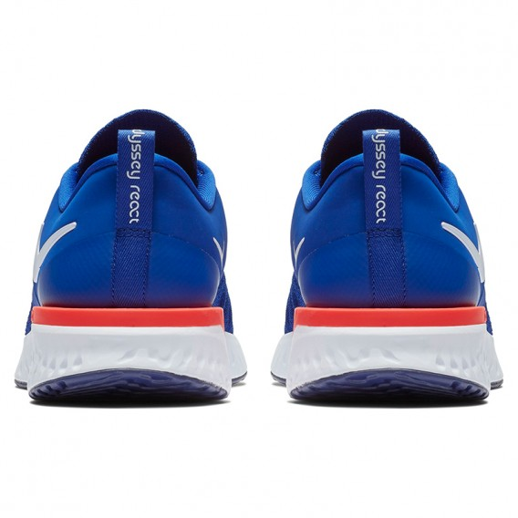 Nike Odyssey React 2 Flyknit 400 Herren Laufschuhe Sportschuhe indigo force-white blue hier im NIKE-Shop günstig online bestelle