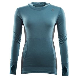 Aclima Warmwool Hood Sweater Damen Merino Unterwäsche tapestry-marengo hier im Aclima-Shop günstig online bestellen
