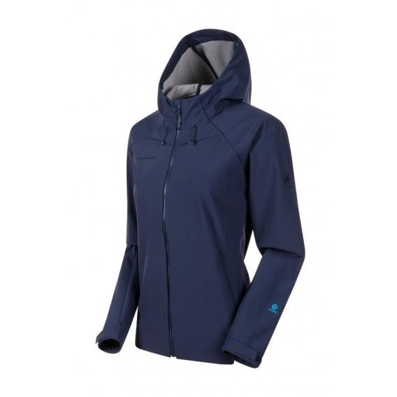 Mammut Sapuen SO Hooded Jacket Damen Softshelljacke peacoat hier im Mammut-Shop günstig online bestellen