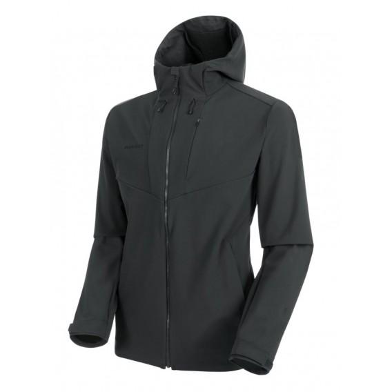Mammut Sapuen SO Hooded Jacket Herren Softshelljacke phantom hier im Mammut-Shop günstig online bestellen