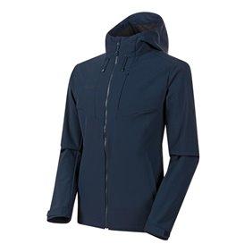 Mammut Sapuen SO Hooded Jacket Herren Softshelljacke marine hier im Mammut-Shop günstig online bestellen