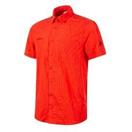 Mammut Lenni Shirt Herren Outdoor und Freizeit Kurzarmhemd spicy