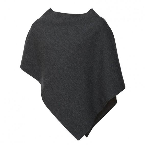 Mufflon Extra Damen Merino Poncho grau hier im Mufflon-Shop günstig online bestellen
