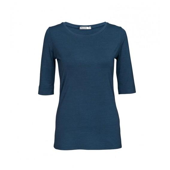 Palgero Liv Merino Shirt 3/4 Arm Damen Funktionsshirt blau meliert hier im Palgero-Shop günstig online bestellen