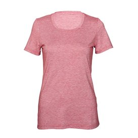 Palgero Birta Damen T-Shirt Kurzarm Funktionsshirt rot meliert