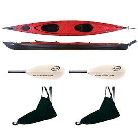 Triton Ladoga 2 Advanced Jubelpaket Faltboot Kajak Faltkajak rot-schwarz