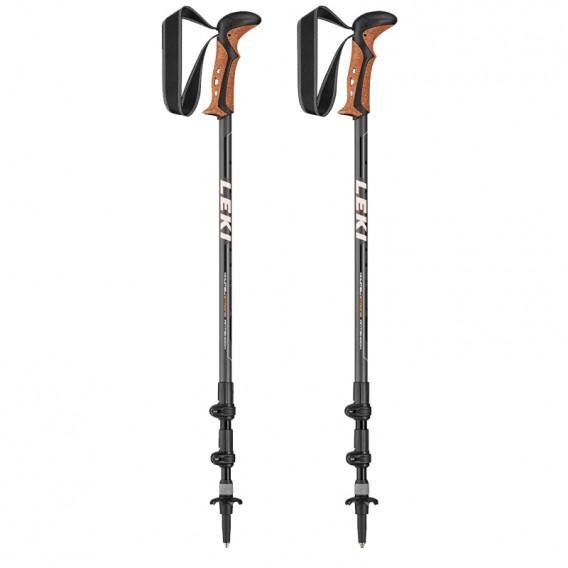Leki Khumbu AS Trekkingstöcke grau-schwarz-weiss-orange hier im Leki-Shop günstig online bestellen