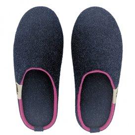 Gumbies Outback Slipper Damen Hausschuhe Hüttenschuhe navy-pink hier im Gumbies-Shop günstig online bestellen
