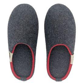 Gumbies Outback Slipper Damen und Herren Hausschuhe Hüttenschuhe charcoal-red