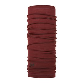 Buff Lightweight Merino Wool Schal Mütze Tuch aus Merinowolle solid wine